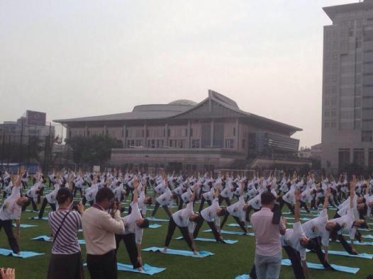 Ķīna, Starptautiskā diena joga